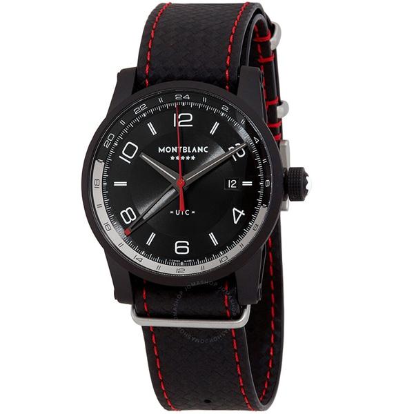 [추가비용없음] MONTBLANC 115360 Timewalker Limited Edition GMT UTC Automatic Dual-Time Black