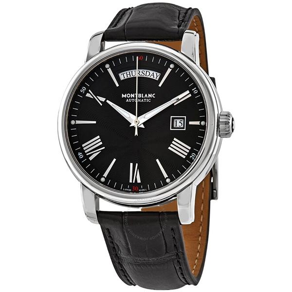[추가비용없음] MONTBLANC 115936 4810 Automatic Black Dial Black Leather Mens Watch