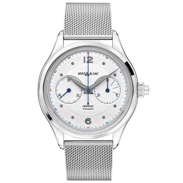 [추가비용없음] MONTBLANC 119952 Heritage Monopusher Chronograph milanese steel bracelet