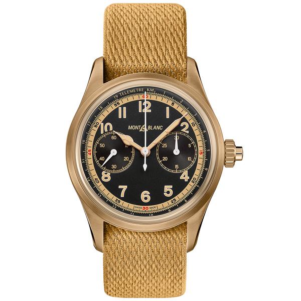[추가비용없음] MONTBLANC 125583 Monopusher Chronograph Automatic Black Dial Watch
