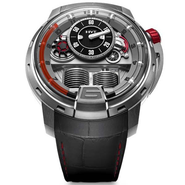 [추가비용없음] MONTBLANC 148-TT-21-RF-AG HYT H1 Quai Du Titanium World Limited