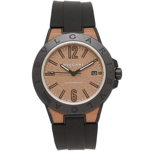 [추가비용없음] 불가리 BVLGARI DG41C11SMCVD Diagono magnesium Brown 41mm