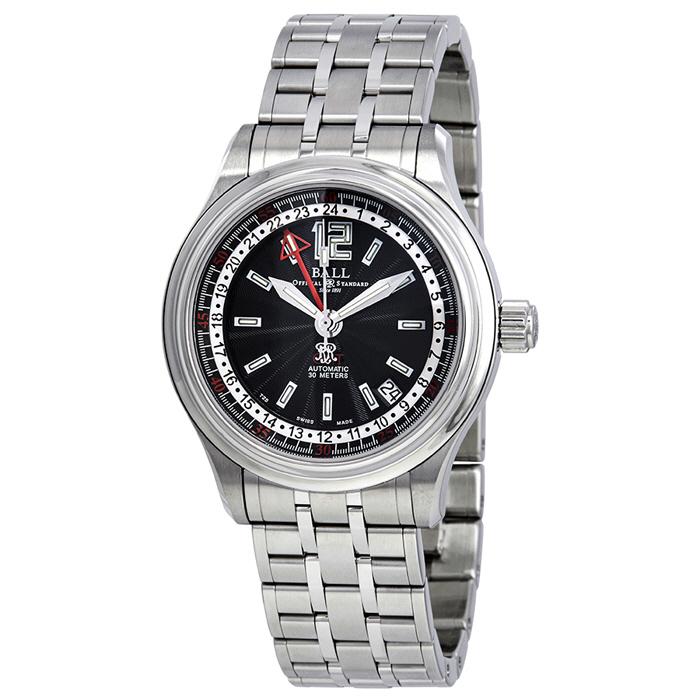 [추가비용없음] BALL Watch  볼워치 트레인 마스터 GMT 남성 GM1038C-SJ-BK