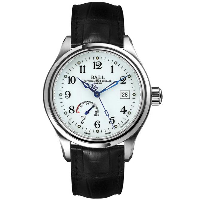 [추가비용없음] 볼워치 BALL Watch  NM1056D-L1J-WH Ball Trainmaster Power Reserve Mens Watch