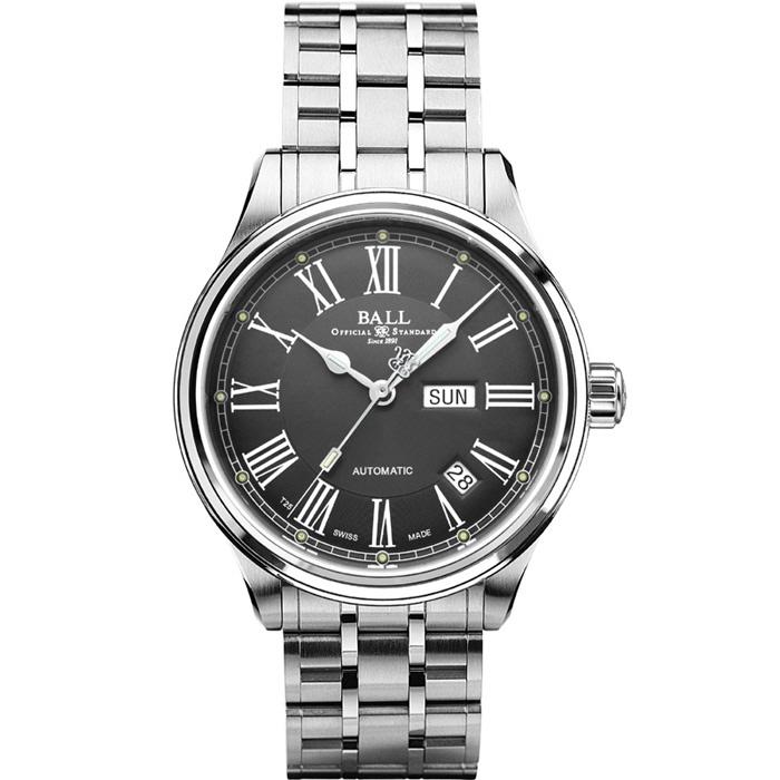 [추가비용없음] 볼워치 BALL Watch  NM1058D-S4J-GY ROMAN TRAINMASTER 볼 남성