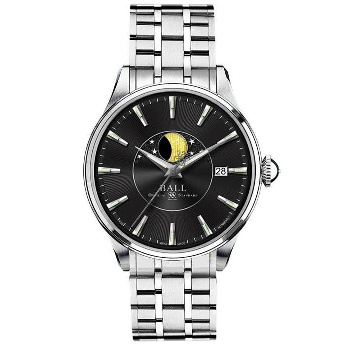 [추가비용없음] BALL Watch  볼워치 트레인 마스터 문 페이즈 블랙 NM3082D-SJ-BK