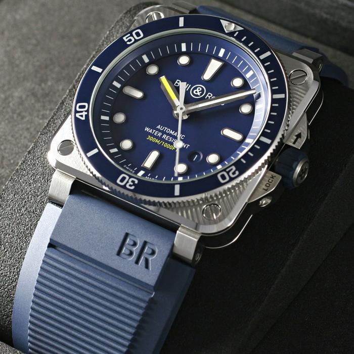 [추가비용없음] 벨앤로스 Bell & Ross BR0392-D-BU-ST/SRB BR03-92 Diver 42mm