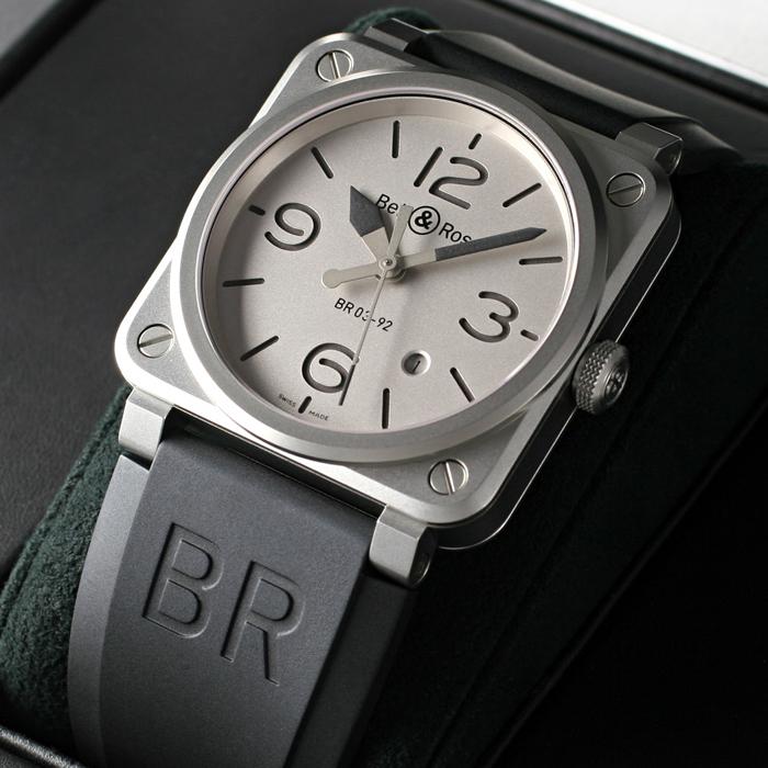 [추가비용없음] 벨앤로스 Bell & Ross 스틸 BR0392-GBL-ST/SRB BR03-92 Horoblack Limited Edition
