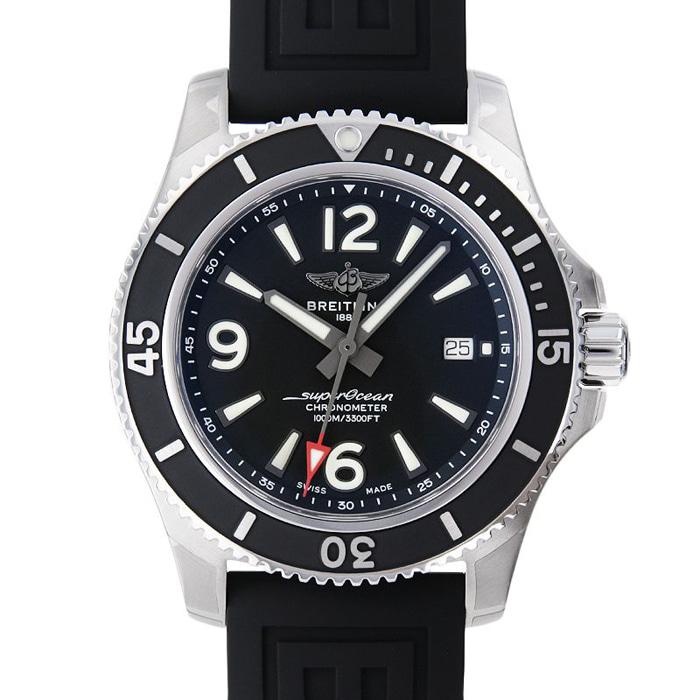 [추가비용없음] 브라이틀링 BREITLING Super Ocean Automatic 44 A292B-1VRC Black Rubber Belt