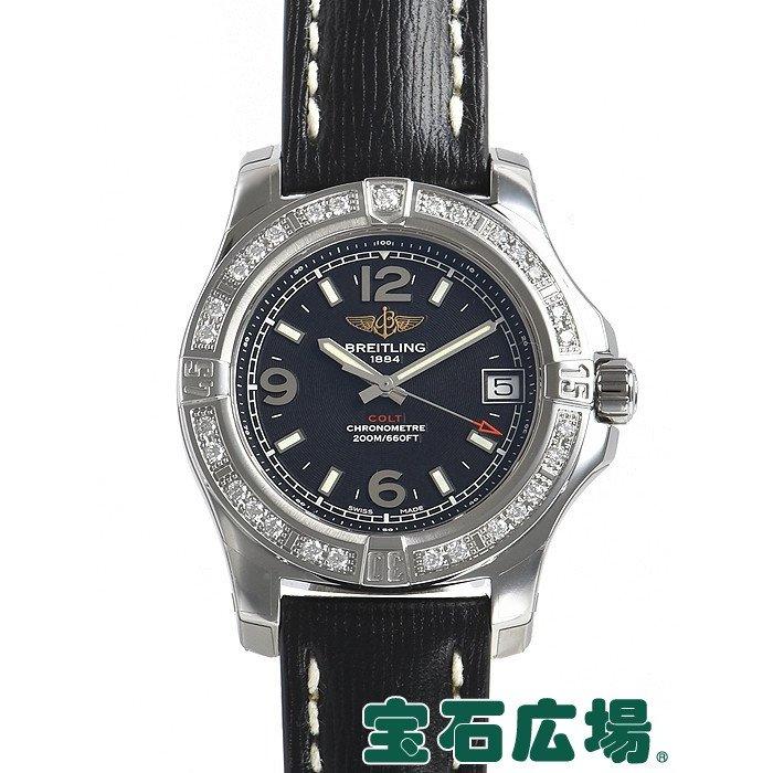 [추가비용없음] 브라이틀링 BREITLING Colt Lady A7438953/BD82 Black Leather Belt