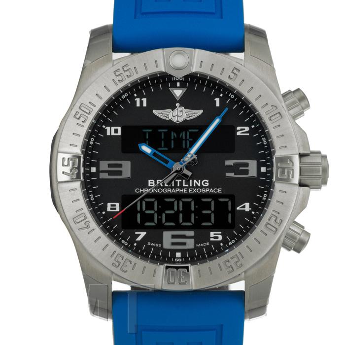 [추가비용없음] 브라이틀링 BREITLING Professional Exo Space B55 E510B79XRE Blue Rubber Belt