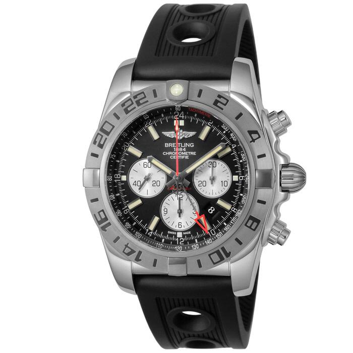 [추가비용없음] 브라이틀링 BREITLING AB0413B9/BD17-RU Chronomat GMT 47mm
