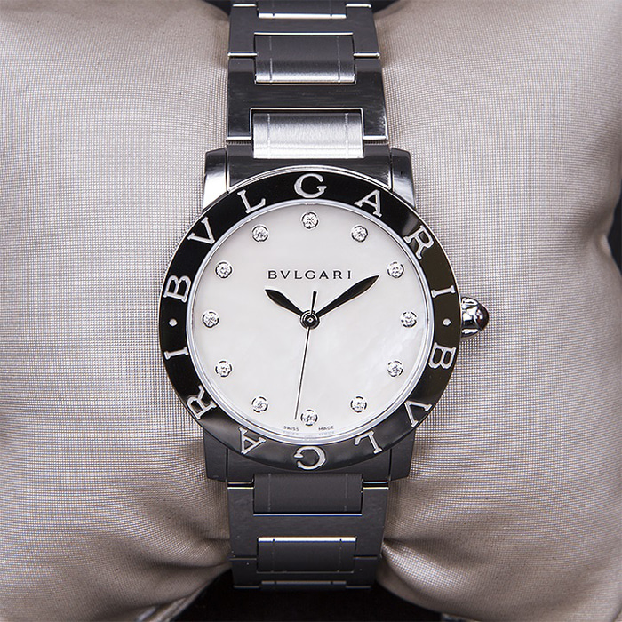 [추가비용없음] 불가리 BVLGARI BBL33WSS/12 Mother of Pearl Diamond Dial Stainless