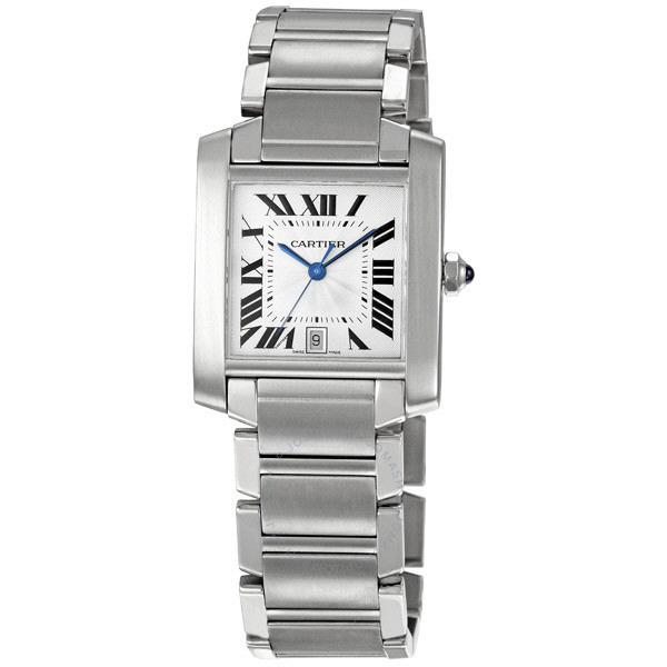[추가비용없음] 까르띠에 Cartier TANK-FRANCAISE Stainless Steel W51002Q3 Authentic 남성