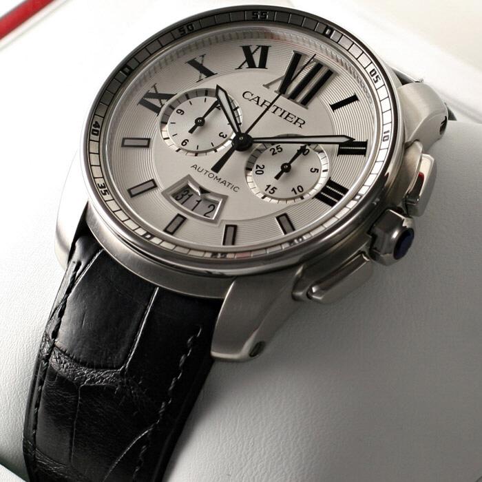 [추가비용없음] 까르띠에 Cartier W7100046 Cartier Calibre de Cartier Silver Dial