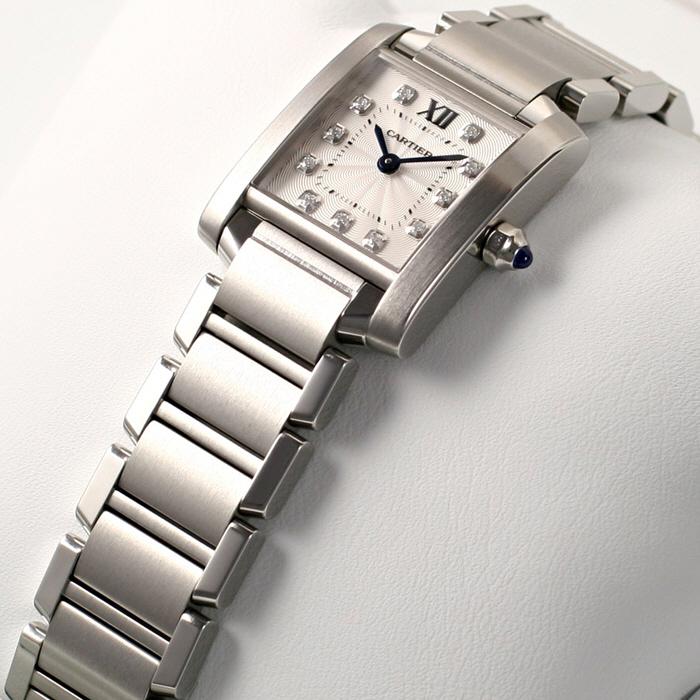 [추가비용없음] 까르띠에 Cartier Tank Francaise WE110006 Original Diamond Dia