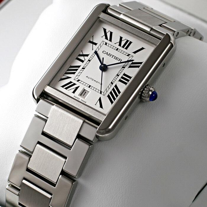 [추가비용없음] 까르띠에 Cartier W5200028 TANK SOLO WATCH SS XL SILVER