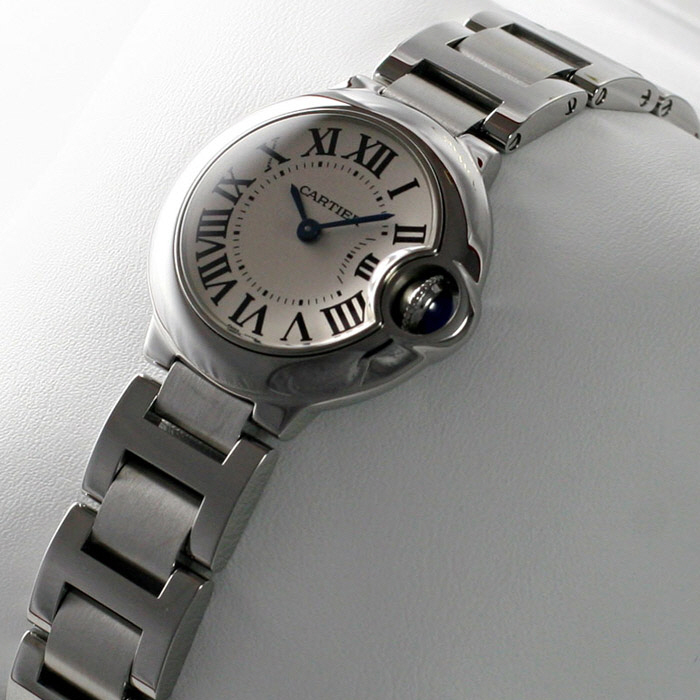 [추가비용없음] 까르띠에 발롱블루 29mm 여성 스틸밴드 Cartier W69010Z4