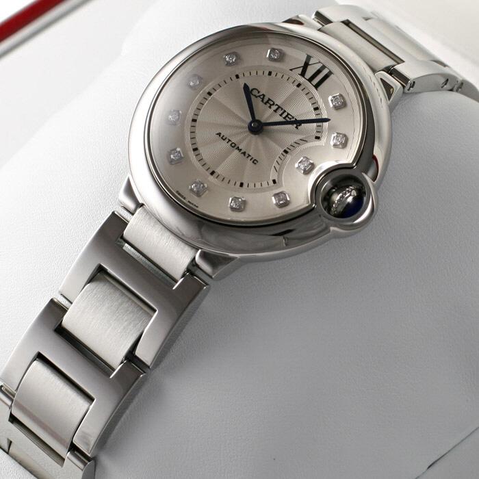 [추가비용없음] 까르띠에 Cartier WE902075 BALLON BLEU AT SS SILVER / DIAMOND DIAL 여성