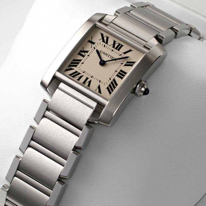[추가비용없음] 까르띠에 Cartier 탱크 프랑세즈mm 쿼츠 팔찌 WSTA0005