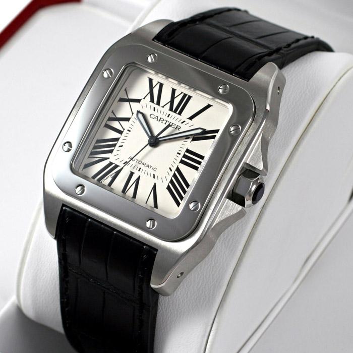 [추가비용없음] 까르띠에 Cartier W20073X8 Santos 100 Steel Automatic 남성