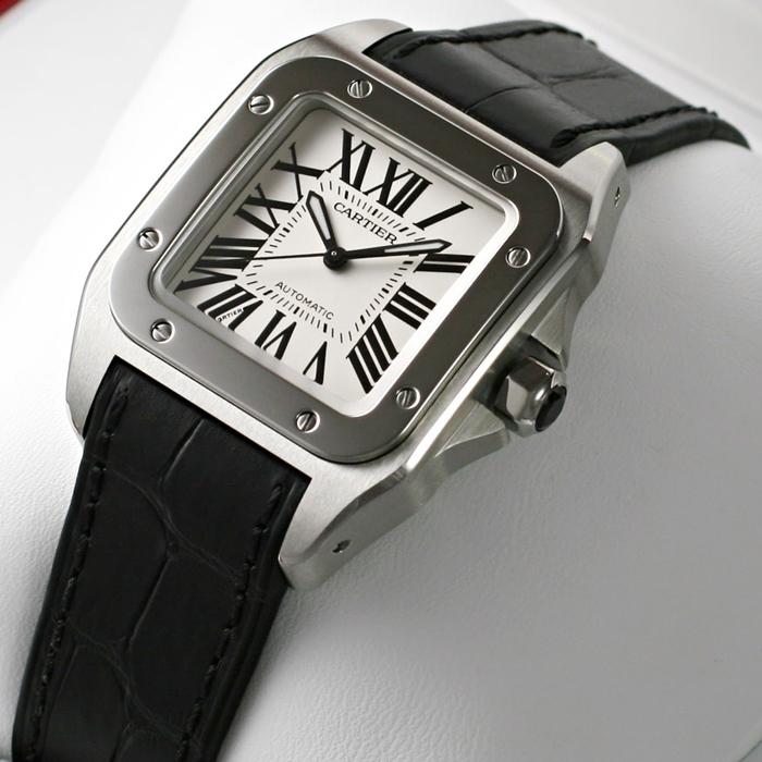 [추가비용없음] 까르띠에 SANTOS 100 W20106X8 Cartier 남녀공용 까르띠에