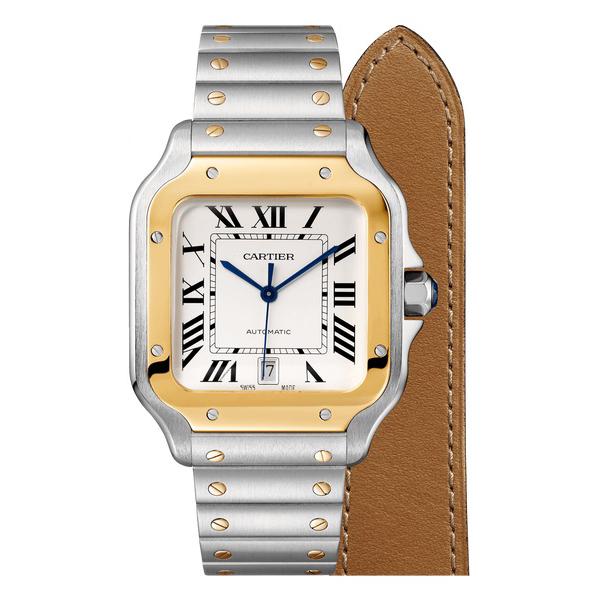 [추가비용없음] 까르띠에 Cartier W2SA0006 Cartier SANTOS DE Cartier Santos Gold 남성