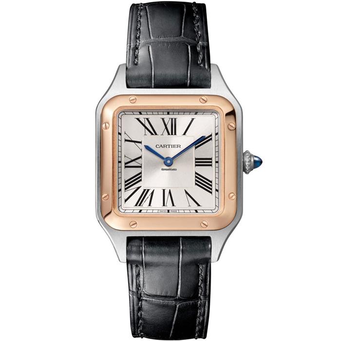 [추가비용없음] 까르띠에 Cartier W2SA0012 SANTOS DUMONT Small model, 18K pink gold
