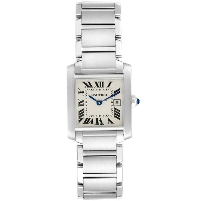 [추가비용없음] 까르띠에 Cartier Tank Francaise Stainless Steel Watch 여성 W51011Q3
