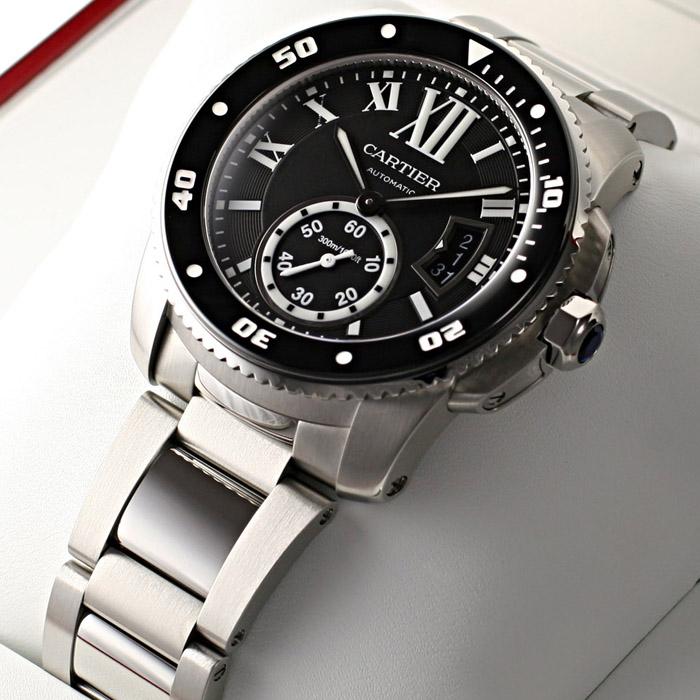 [추가비용없음] 까르띠에 Cartier W7100057 Calibre de Cartier Diver