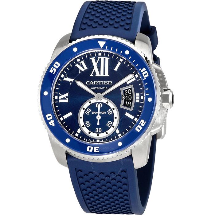 [추가비용없음] 까르띠에 Cartier WSCA0011 Cartier Calibre Diver Automatic Blue Dial Men's