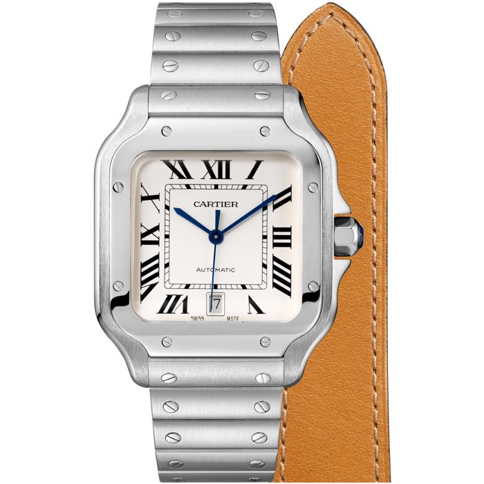 [추가비용없음] 까르띠에 Cartier Santos De Large Automatic Mens Watch WSSA0009