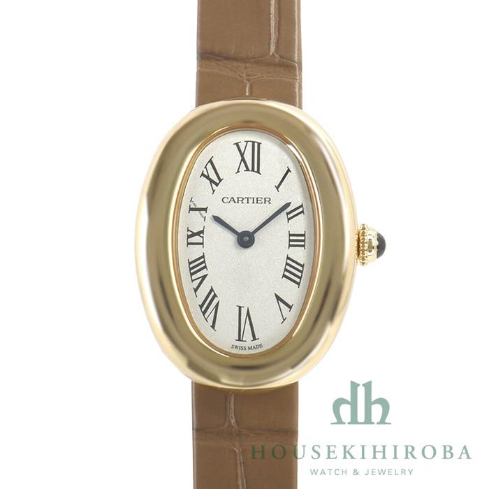 [추가비용없음] 까르띠에 CARTIER WGBA0007 Baignoire 1920 26mm small 18-Karat Gold and Alligator Watch