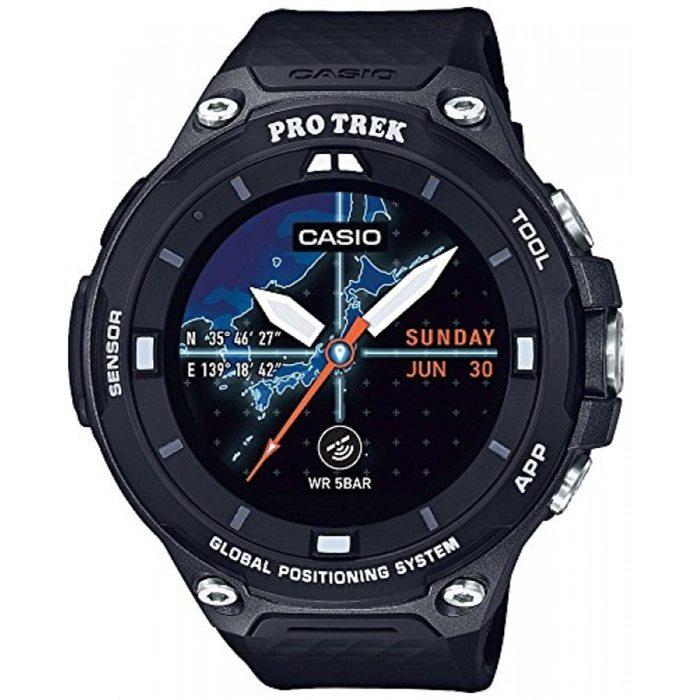 [추가비용없음] 카시오 CASIO 프로트렉 PROTREK WSD-F20X-BK 스마트아웃도어 프로트렉 스마트 GPS 탑재