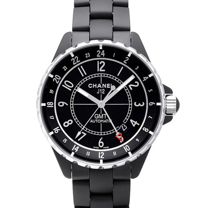 [추가비용없음] 샤넬 블랙 스틸 CHANEL J12 GMT Black Сeramic & Steel 41mm H3101