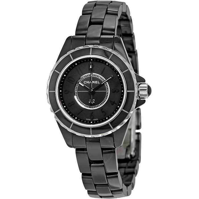 [추가비용없음] 샤넬 쿼츠 블랙 CHANEL H4196 J12 Intense Black Quartz 29mm