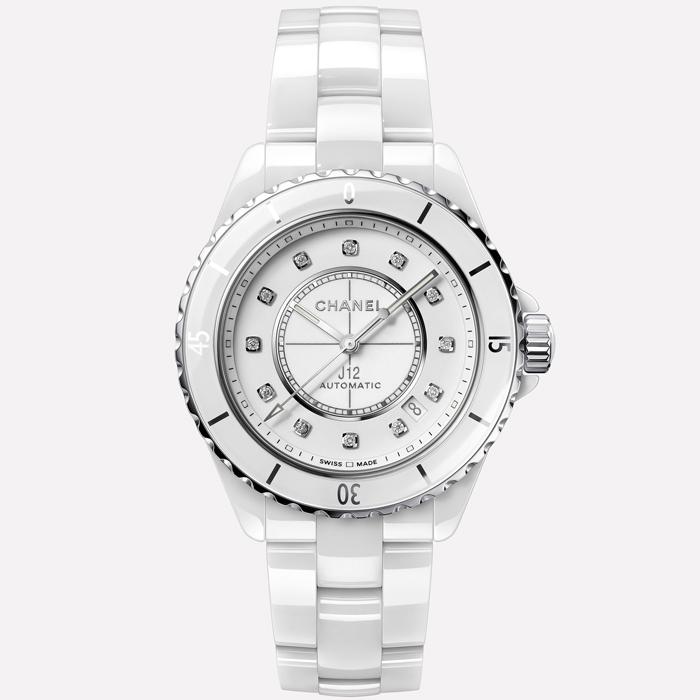 [추가비용없음] 샤넬 시계 CHANEL J12 H5705 J12 화이트 세라믹 12P 다이아몬드 38mm