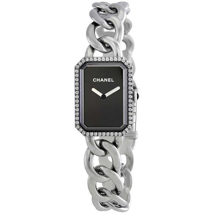 [추가비용없음] 샤넬시계 CHANEL H3254 Premiere Black Dial Stainless Steel Diamond