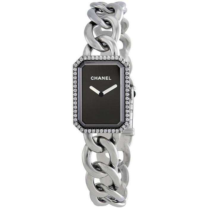 [추가비용없음] 샤넬시계 CHANEL H3254 Premiere Black Dial Stainless Steel Diamond