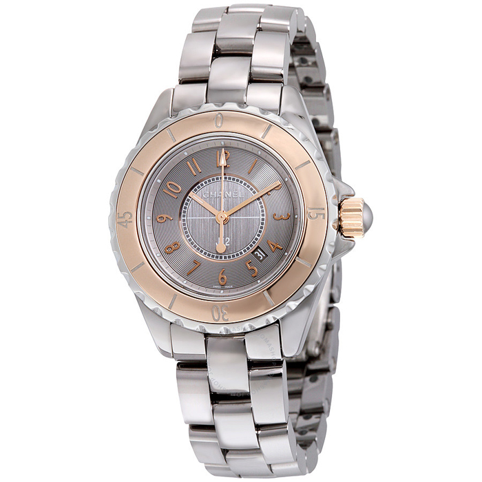 [추가비용없음] 샤넬 시계 CHANEL H4197 CHANEL J12 Grey Dial Titanium Ceramic Automatic