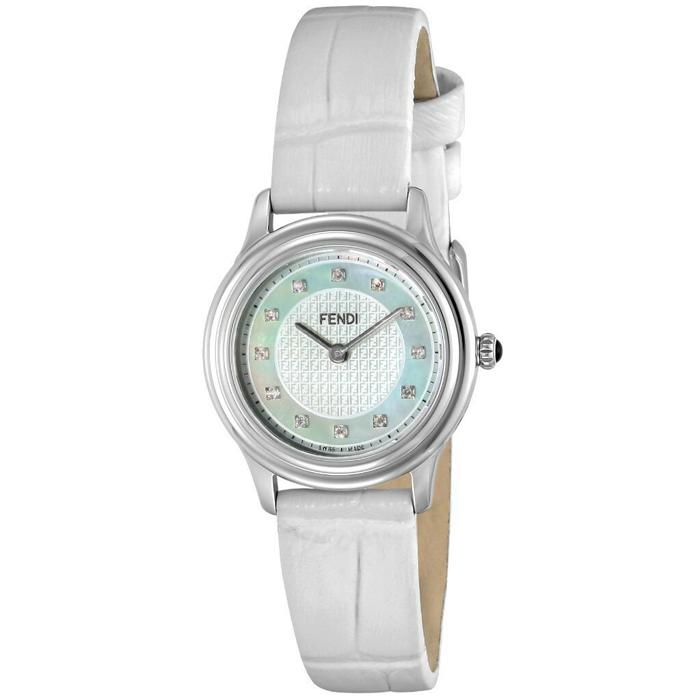 [추가비용없음] 펜디 FENDI 모다 다이아몬드 스위스 시계 F250024541D1 화이트 쉘