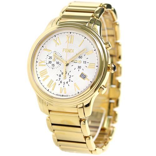 [추가비용없음] 펜디 FENDI 클라시코 42mm 남성 시계 F252414000 화이트 × 골드