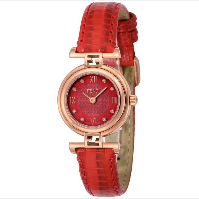 [추가비용없음] 펜디 FENDI 모다 23.5mm 다이아몬드 여성 F275277BD 레드 시계