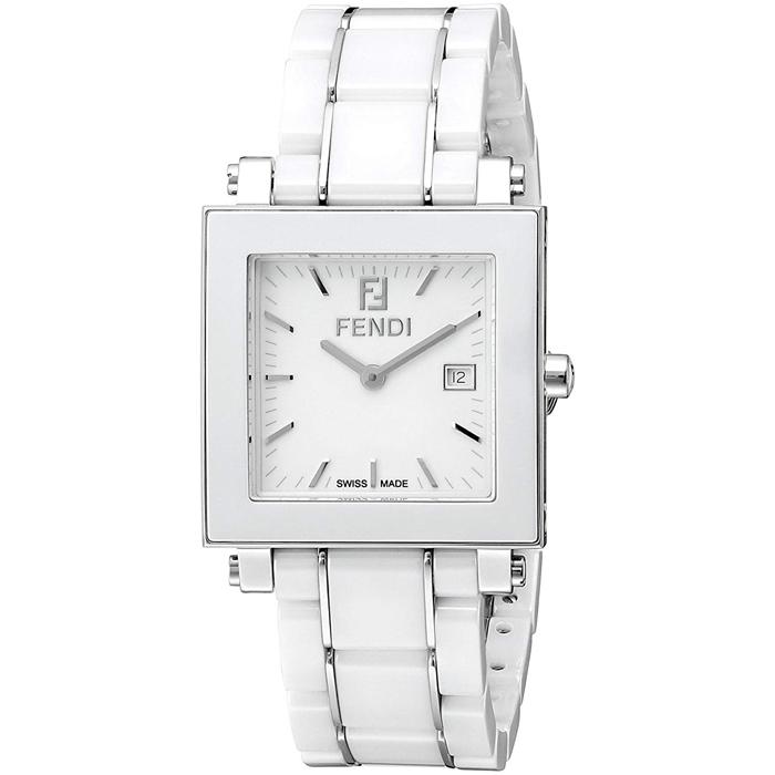 [추가비용없음] 펜디 FENDI 쿠아도로 30mm 쿼츠 여성 F622140 화이트 시계