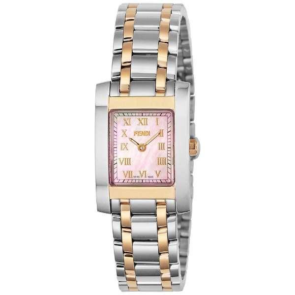[추가비용없음] 펜디 FENDI 클라시코 쿼츠 여성 시계 F702270 핑크 쉘 × 핑크 골드