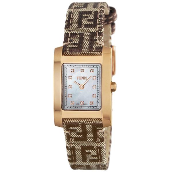 [추가비용없음] 펜디 FENDI 클라시코 다이아몬드 여성 F704242DF 화이트 쉘 × 브라운
