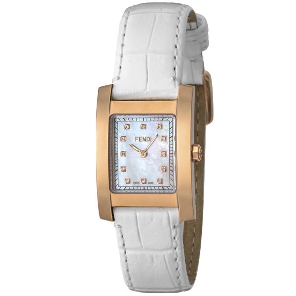 [추가비용없음] 펜디 FENDI 클라시코 스위스 여성 시계 F704244D 화이트 쉘