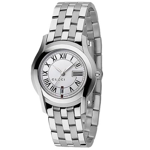 [추가비용없음] 구찌 YA055306 Round Quartz Stainless Elegant Style Analog Watch