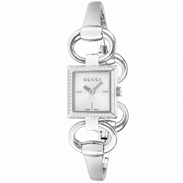 [추가비용없음] 구찌 YA120506 Tornabuoni Silver Dial Stainless Steel Belt Womens Watch