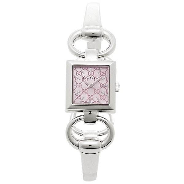 [추가비용없음] 구찌 YA120515 Tornabuoni Silver Pink Pearl Ladies Watch